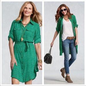 CAbi | Emerald shirt dress